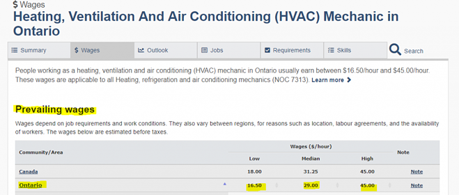 HVAC career