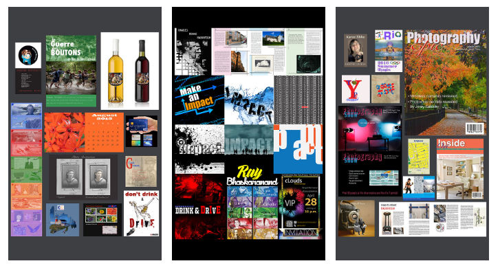 graphic design student work