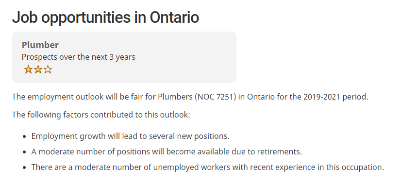plumber job outlook