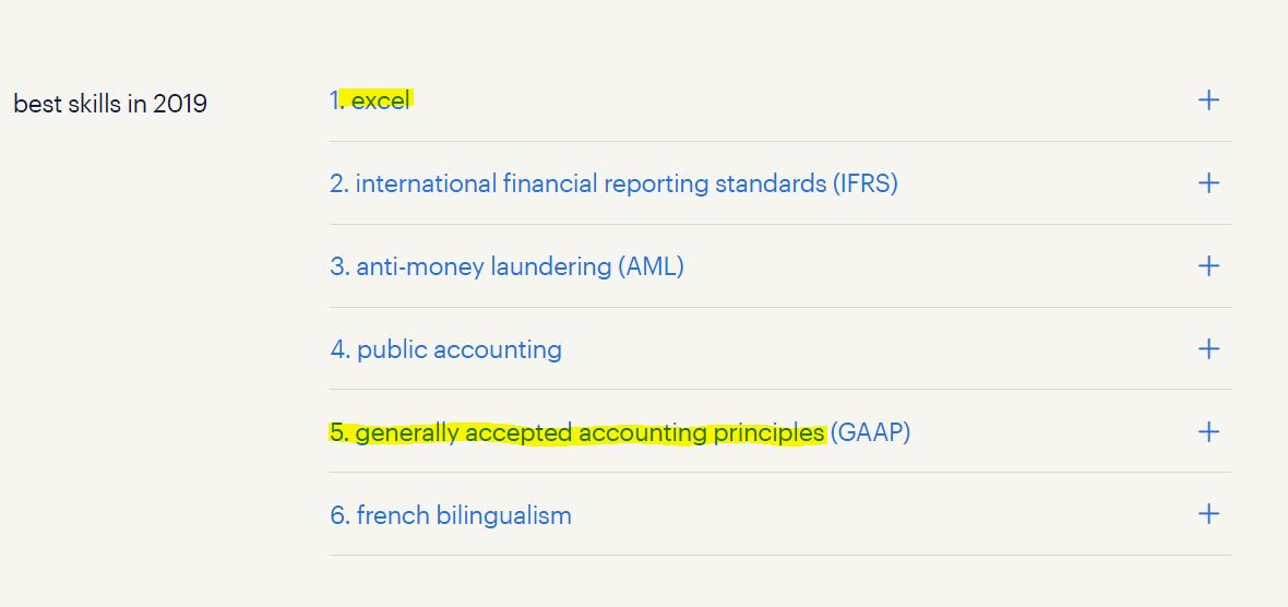 top accounting skills