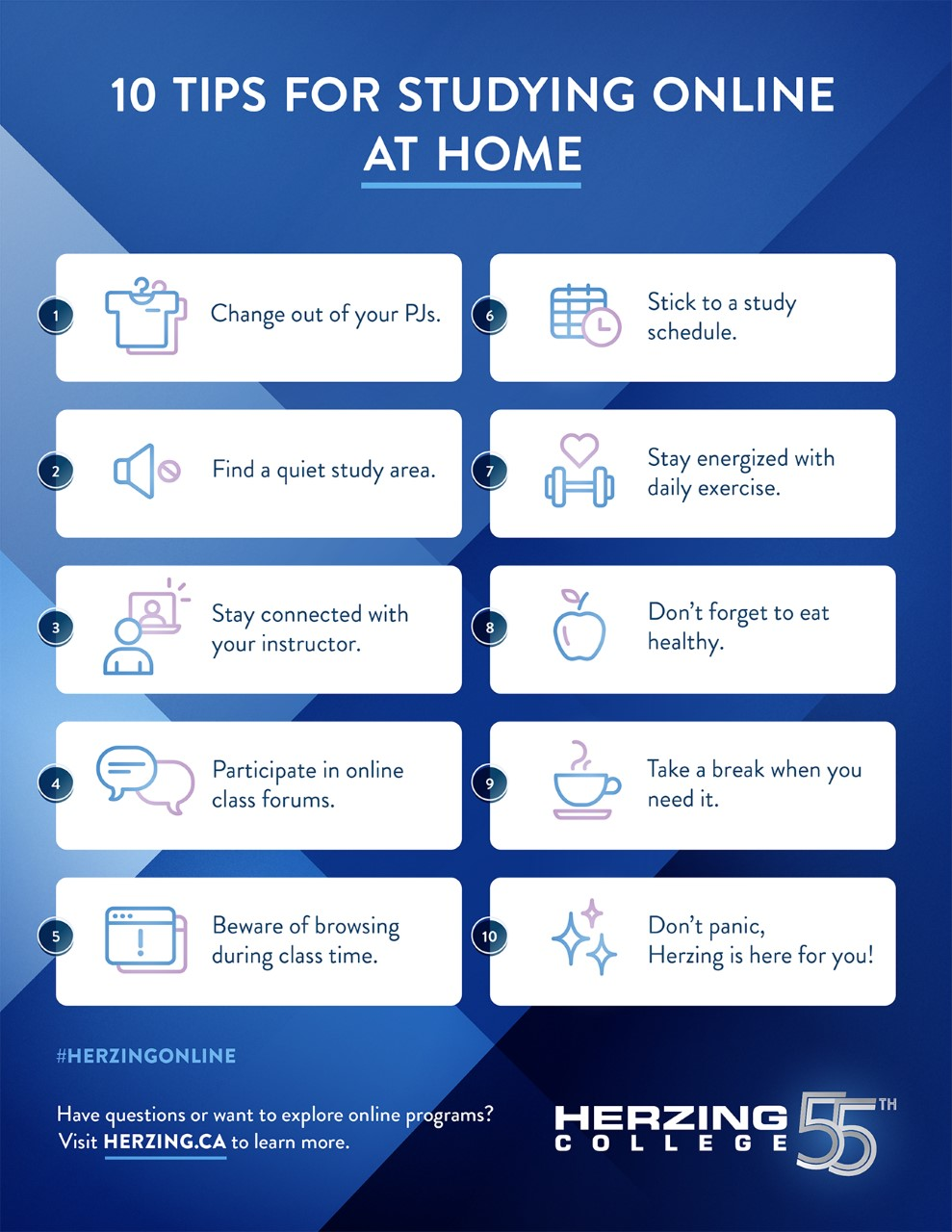 10 Tips for Studying Online at Home